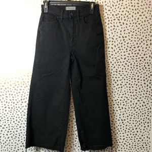 MADEWELL BLACK wise leg crop jean SZ 25